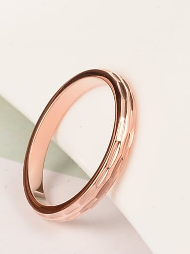 Titanium Pattern Round Minimalist Midi Ring