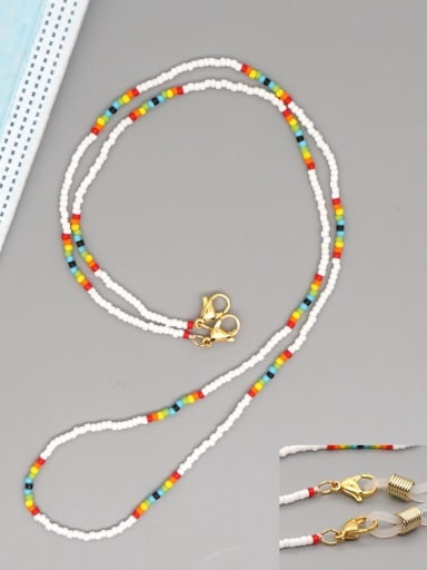 MG N200020A Stainless steel MGB Bead Multi Color Bohemia Necklace