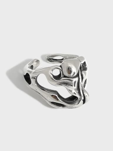 925 Sterling Silver Hollow Skull Vintage Band Ring