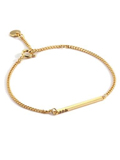 Brass Geometric Minimalist Link Bracelet