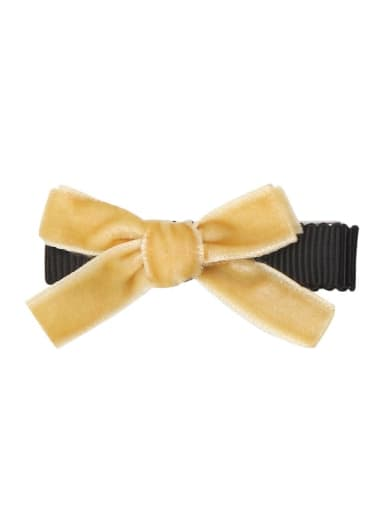 5 celery yellow Alloy Fabric Cute Bowknot  Multi Color Hair Barrette