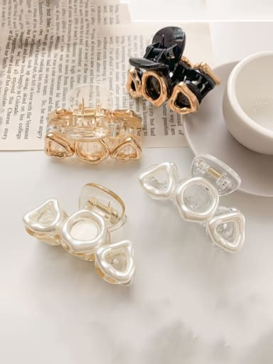Alloy Resin Vintage Geometric Jaw Hair Claw