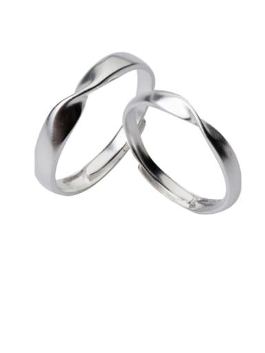 925 Sterling Silver Smooth Irregular Minimalist Band Ring