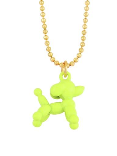 yellow Brasel  Cute Cartoon Dog Pendat Necklaces