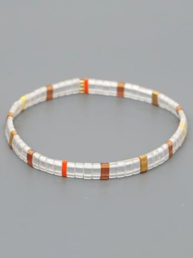 TL B190250F Stainless steel TILA Bead Multi Color Geometric Bohemia Handmade Weave Bracelet