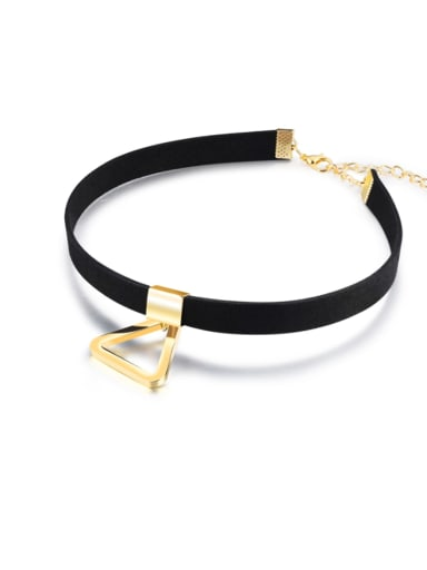 Alloy Silk Triangle Minimalist Choker Necklace
