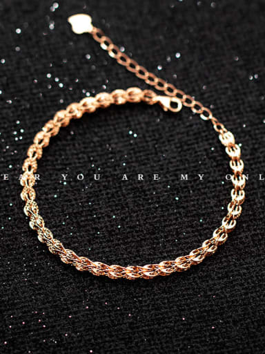 925 Sterling Silver Irregular Minimalist Link Bracelet