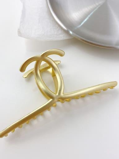 Sub gold 11cm Alloy Minimalist Irregular  Jaw Hair Claw