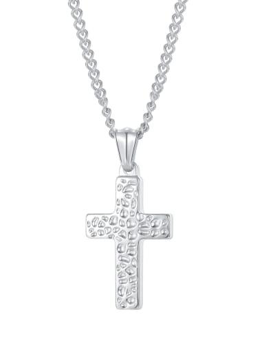 Titanium Steel Hip Hop Cross Pendant