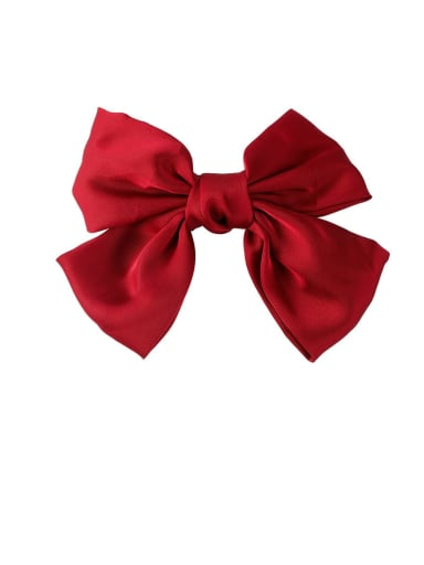 E red(Hairpin Style) Alloy With Gun Plated Fashion Ribbon  Butterfly Hair Ropes
