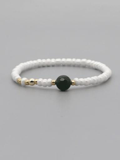 GZ B200007A Stainless steel Freshwater Pearl Irregular Minimalist Stretch Bracelet