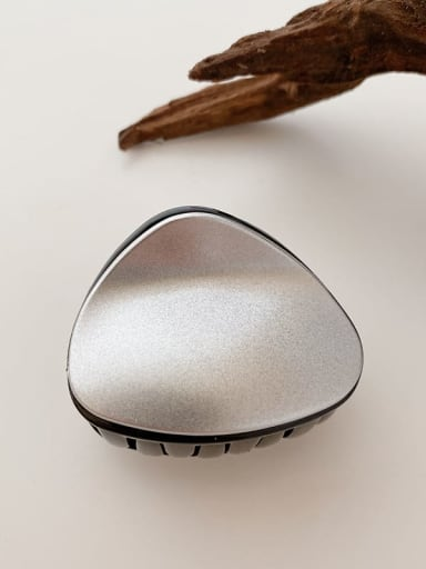 Black Silver 5.5cm Alloy Resin  Minimalist TriangleJaw Hair Claw
