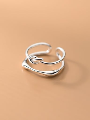 925 Sterling Silver Geometric Line Minimalist Stackable Ring