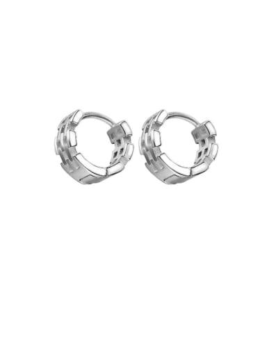 Titanium Steel Geometric Hip Hop Huggie Earring