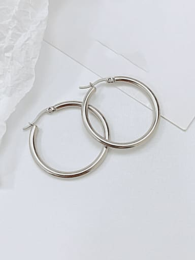 703 Steel Earrings Titanium Steel Geometric Minimalist Hoop Earring