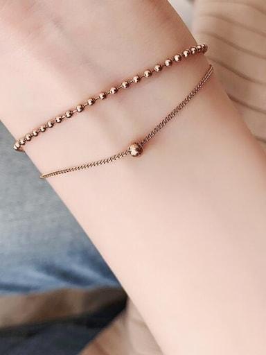Double-deck Titanium Beaded Bracelet