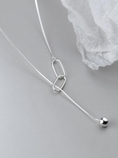 925 Sterling Silver Tassel Minimalist Necklace