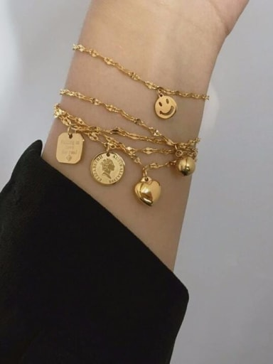 Titanium Ball Artisan Charm Bracelet