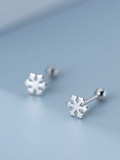 925 Sterling Silver Flower Minimalist Stud Earring