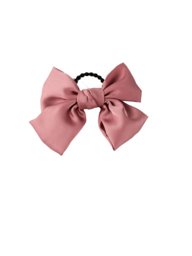 A pink (Hair Rope) Alloy With Gun Plated Fashion Ribbon  Butterfly Hair Ropes