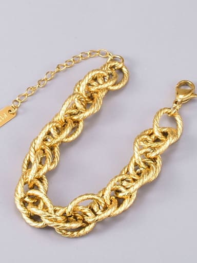 Titanium Steel Geometric Vintage Link Bracelet
