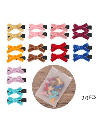 Alloy Fabric Cute Bowknot  Multi Color Hair Barrette