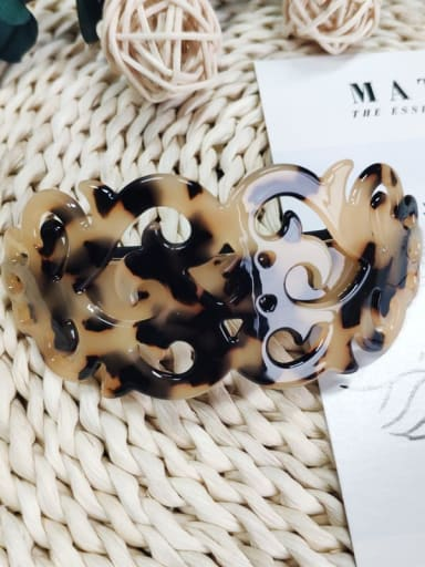 Shallow hawksbill Cellulose Acetate Vintage Geometric Zinc Alloy Jaw Hair Claw