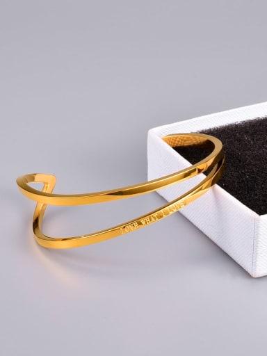 Titanium Steel Geometric Minimalist Cuff Bangle