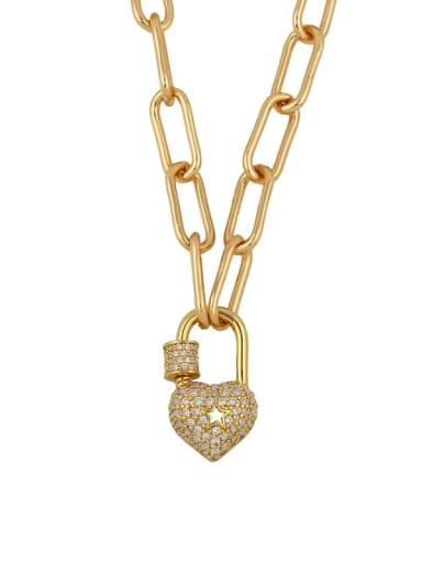 a heart Titanium Cubic Zirconia Heart Vintage Necklace