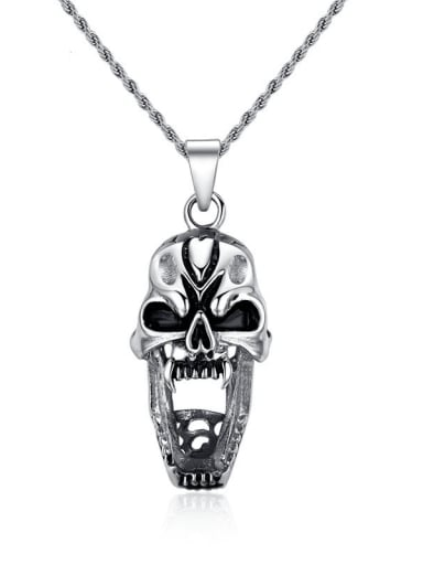 Stainless steel Skull Hip Hop Necklace