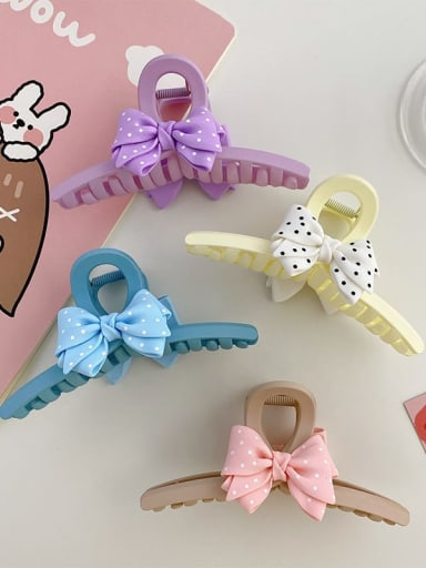 Alloy Resin Silk Trend Bowknot  Jaw Hair Claw