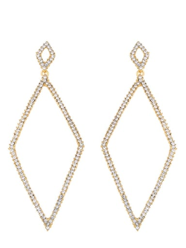Alloy Cubic Zirconia Geometric Vintage Drop Earring