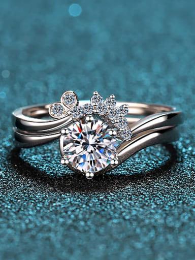 Sterling Silver Moissanite  Irregular Dainty Engagement Rings