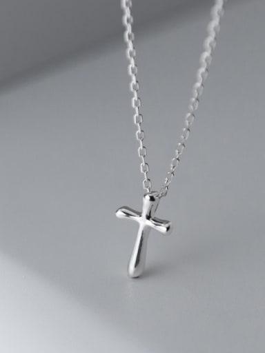 925 Sterling Silver Cross Minimalist Regligious Necklace