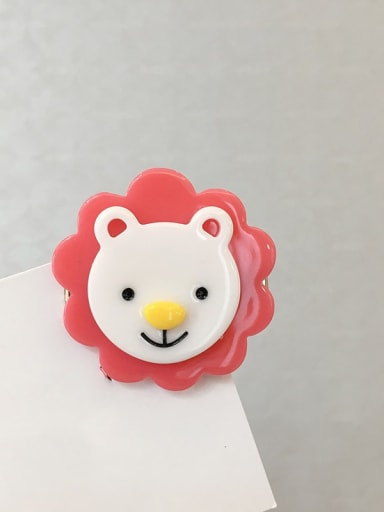 Little lion Cellulose Acetate Cute Dog Alloy Hair Barrette