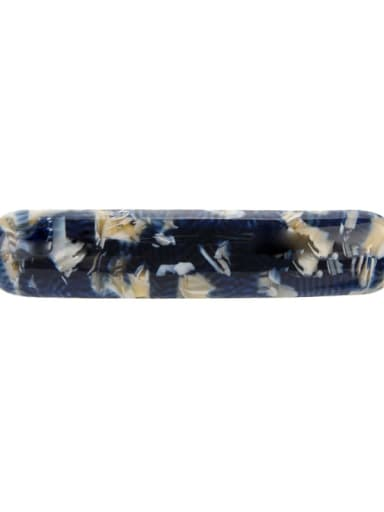 Navy 8 cm wide Cellulose Acetate Minimalist Geometric Alloy Hair Barrette Spring clip