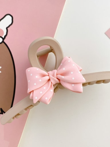 Light brown 13cm Alloy Resin Silk Trend Bowknot  Jaw Hair Claw