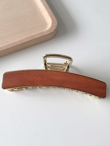 Mahogany 10.3cm Cellulose Acetate Vintage Geometric Alloy Jaw Hair Claw