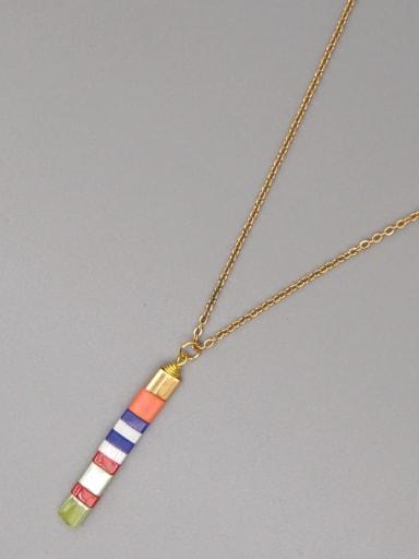TL N200017E Stainless steel Miyukitila Geometric Bohemia Pure handmade Necklace