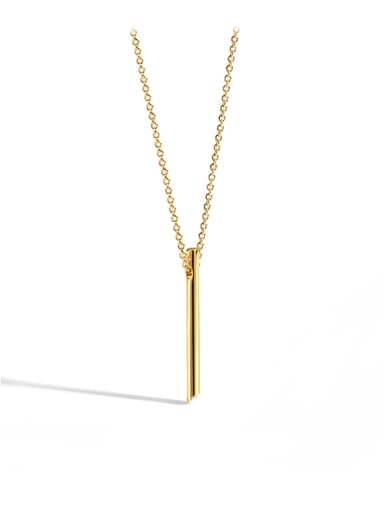 Brass Geometric Minimalist Necklace