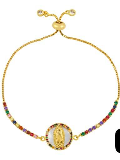 C Brass Shell Round Minimalist Beaded Bracelet