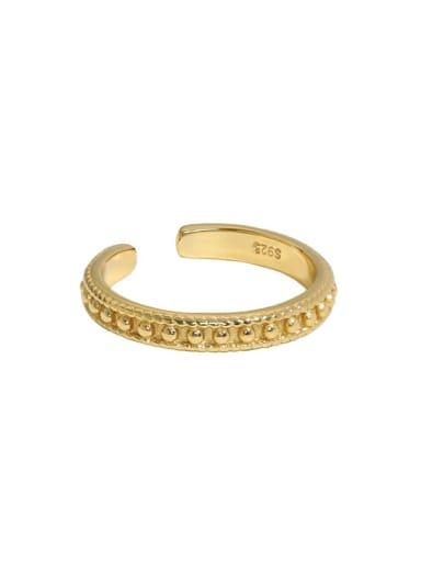 Art012 [ 18K Gold] 925 Sterling Silver Rhinestone Irregular Minimalist Band Ring