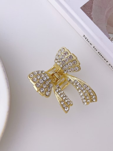 Bow drill 6cm Alloy Imitation Pearl Trend Butterfly  Jaw Hair Claw