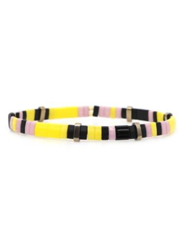 TL B190269B Stainless steel TILA Bead Multi Color Geometric Bohemia Handmade Weave Bracelet
