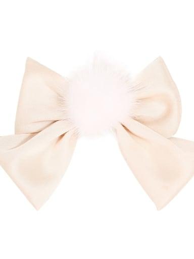 4 apricot white Alloy Fabric Cute Bowknot  Multi Color Hair Barrette