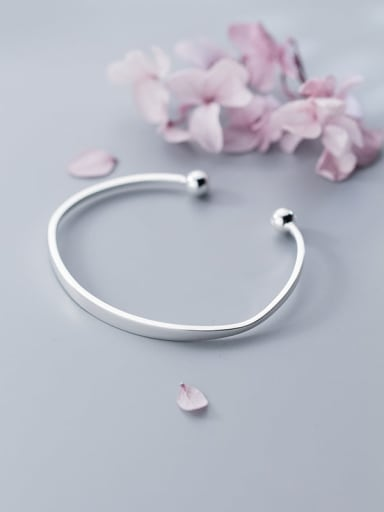 S925 silver fashion simple cut Bracelet temperament personality opening jewelry