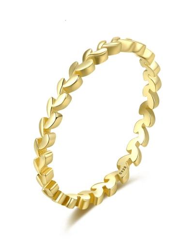 Brass Geometric Minimalist Band Ring