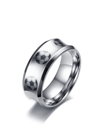 Stainless steel Enamel Ball Minimalist Band Ring