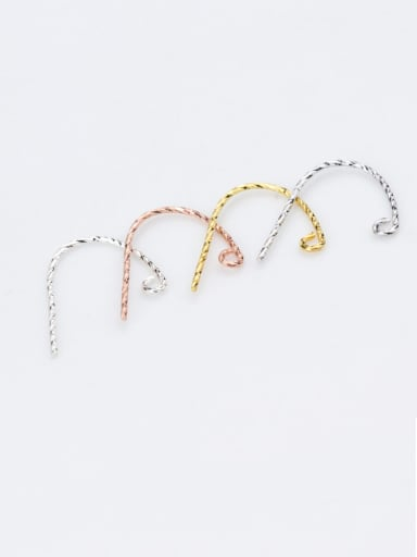 925 Sterling Silver With 9 Word Ear Hook Semi-finished Earring Accessories