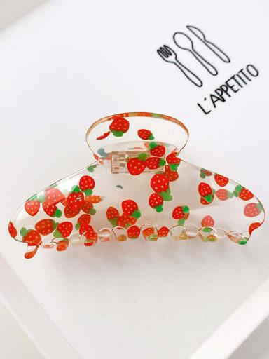 Strawberry 11cm Acrylic Minimalist Irregular Alloy Multi Color Jaw Hair Claw
